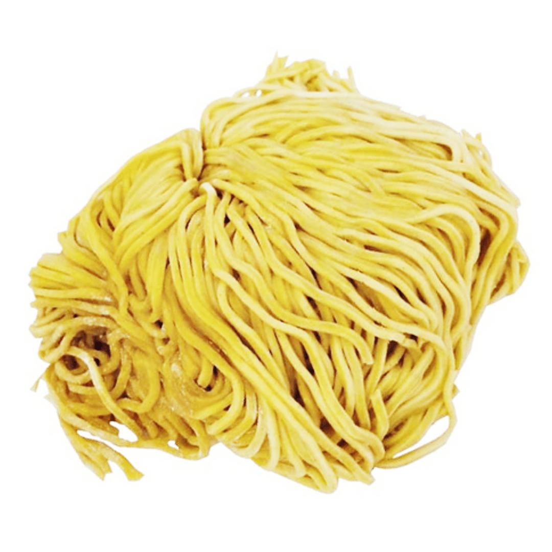 Japanese yellow ramen noodles