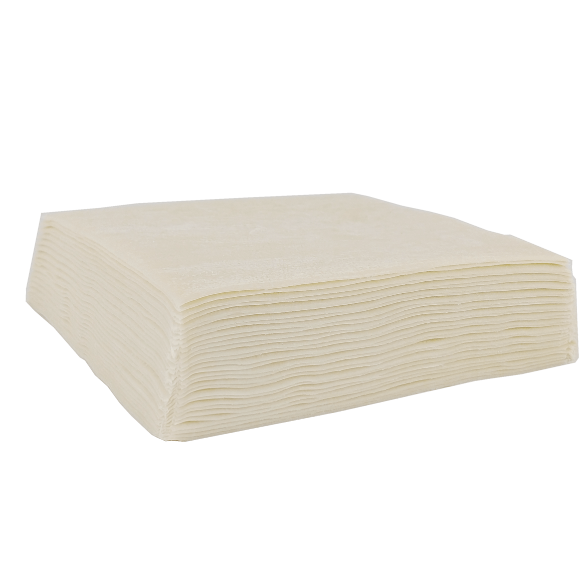 Stack of square shaped eggroll wrappers